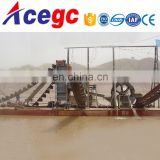 River Lake bucket chain wheel sand gold mining dredge for sale