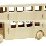 London bus wooden puzzle model toy for kids