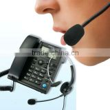 corded business call center headset telephone with caller id display
