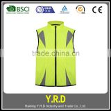 Wholesale fluorescent Yellow breathable mesh reflective safety vest