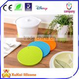 New Products Elegant Purple Ostrich Leather Drink Cup Coaster Sets in Round Shape, Wholesale 6 Pieces Leather