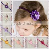 2015 new fashion Ribbon chiffon fabric flower babay hair accessories MY-AD0003