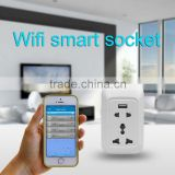 Wireless wifi intelligent smart zigbee wifi plug power socket