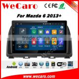 Wecaro WC-MA923 10.2 inch android 4.4/5.1 car stereo audio for mazda 6 touch screen dvd player 2013 + With Wifi and 3G GPS Radio