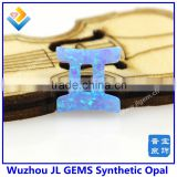 Wholesale11*11.5mm Gemini Fire White/Blue Opal Pendant With 12 Horoscope Synthetic Opal For Making Necklace And Bracelet
