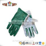 Garden working Gloves with PVC dots on Palm/ polyester cotton gardening protective gloves