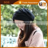 latest black color fitted woman ladies formal hat