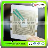 Transparent&Adhesive HF\UHF rfid inlay/rfid wet inlay(wet&dry inlay) for nfc tags \labels