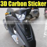 Highest quality black 3D carbon fiber film for car decoration, car decoration vinyl film