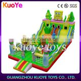 inflatable spongebob slide playgrounds,new character inflatable playground,amusement park inflatable rides