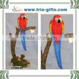 wholesale resin macaw blue and red polyresin parrot figurine