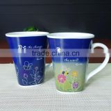 320ml Heat Sensitive Color Changing Coffee Cup Morning Mug + One Ceramic Coffee Tea Milk Spoon - Growing...