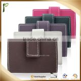 Hot selling style PU/Real genuine leather cheap business card holder