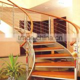 decorative Oak/ Teakwood/Beech modern wood stairs for house decorated