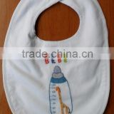 Hand embroidered cotton baby bibs