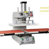 heat pressing machine for welding the seamless pocket under the setting pressure and tempressure