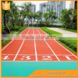 safty synthetic rubber running track material for 400 m playground