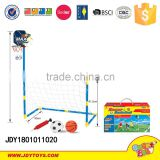 Sports set football 2 in 1 kids sport plastic toy basketball game/ toy football door game