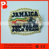 wholesale garment woven label / tag / customized clothing embroidered logo / satin label patch