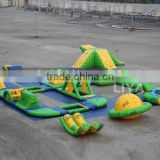 2015 summer popular giant inflatable water park for kids and adults / inflatable floating water park
