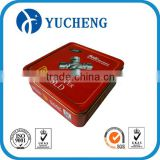 hangzhou custom red printing square metal tool tin box                                                                         Quality Choice