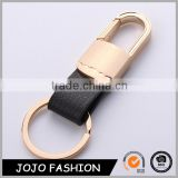Black Leather Zinc Alloy Metal Bulk Wholesale Car Leather Keychain for Men