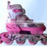 ACTION brand Inline Skate Shoes PW-151B Pink Land Roller Skate Flashing Roller Fitness Shoes