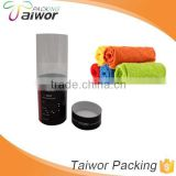 Paper and transparent PVC material cylinder display box for towel packing