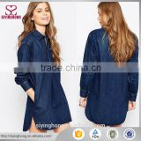 China Factory OEM fancy girl new fashion autumn plus size sleeveless denim tunic dress                                                                                                         Supplier's Choice