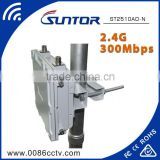 Suntor 2.4GHz outdoor wireless wifi AP repeater manufacturers with external antenna                                                                         Quality Choice