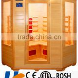 corner type 5 to 6 person size public use the best selling infrared sauna