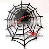 Spider mesh shaped acrylic wall clock