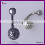 Wholesale Body Piercing Pearl Ball Browning Belly Button Rings