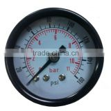 "PneumaticPlus Air Pressure Gauge for Air Compressor WOG Water Oil Gas 1-1/2"" Dial Center Back Mount 1/8"" NPT 0-160"