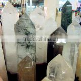 Best seller clear natural quartz metaphysical pattern healing crystal wands