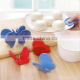 Multi-function Butterfly silicone Fridge Magnet and silicone resistant clip and insulation plate holder