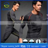 Men Sport Wear For Dri Fit Slim Tit Short Sleeve Sportwear Training Gym Clothes Mens Compression shirt