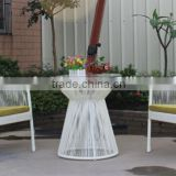 outdoor furniture wicker all weather resin 3 piece dining table and chair set/ bistro chair in garden