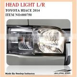 for toyota hiace auto parts head light #000750 hiace commuter van bus, KDH200 for hi ace new modle