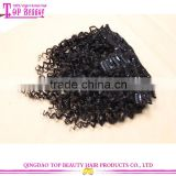 Wholesale clip in extensions free sample hot sale 7a grade clip in hair extensions for black women
