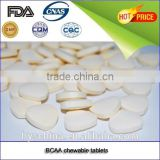 Rich whey protein BCAA chewable tablet with POP falvour