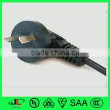 CCC certification power cable with CCC China 3 flat pin electric plug, right angle AC power plug