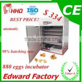 HHD Best Price and 98% hatching Rate Automatic 800 eggs Cheap Reptile Incubators For Sale of high quality