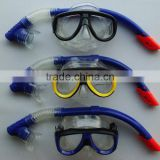 Silicone scuba diving equipment snorkel mask set