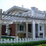 Outdoor long life garden wpc pergola waterproof wood plastic composite pergola wpc