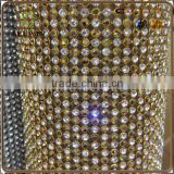 2016 Sparkle Rhinestone Diamond Mesh Wrap for Wedding Decoration