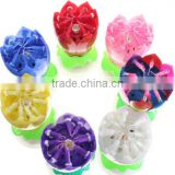 high quality fireworks music rotating birthday candle/decoration for party-electric candle