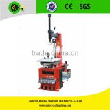 Semi-automatic swing arm pneumatic tyre changer with air blooster system