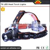 OEM T6 LED 1200Lm 3 Mode Rechargeable Hunting Headlight High Power Headlamp