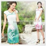 custom design digital printing traditional Chinese cheongsam dress